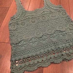 Pins & Needles lace tank size small GUC